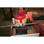 Box of Center Punches, Allen Wrenches and Die Handle