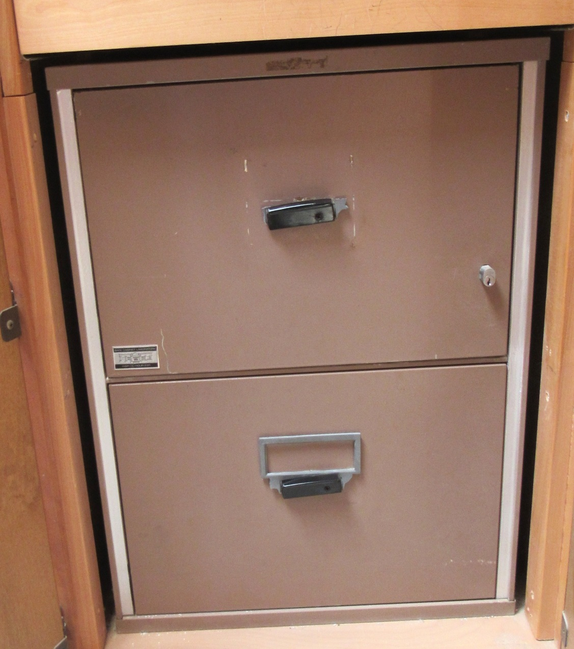 Lot 4 - 2 Draw Fire Proof File Cabinet