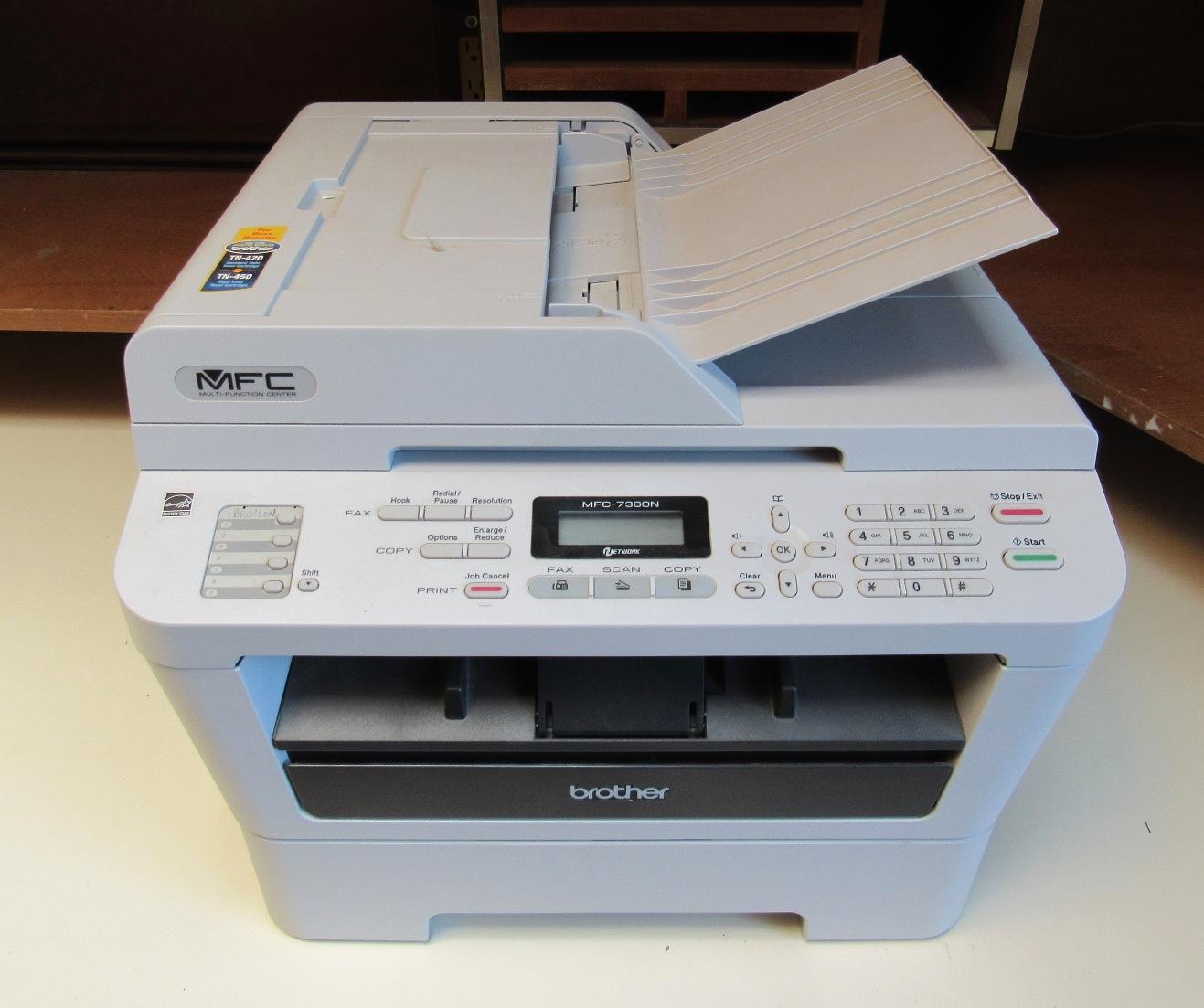 Lot 2 - Brother Mod.MFC-7360N Fax Machine
