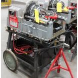 RIDGID, 535 SERIES, POWER PIPE THREADER W/FOOT CONTROL, 115 VOLT, S/N EBE 09885-0108 WITH PIPE STAND