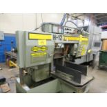 """HYD-MECH H-12A FULLY AUTOMATIC HORIZONTAL BANDSAW W/PLC 100 CONTROL, 20""""X10' INFEED ROLLER"""