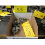 "LOT ASST. BISON 4"" 3-JAW CHUCK & COLLETS, ETC. (1 BOX)"