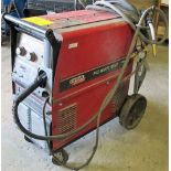 LINCOLN ELECTRIC POWER MIG 350 MP WELDER, S/N K2403-111147 W/CABLES/CART