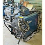 MILLER DIMENSION 452 CC/CV-DCWELDING POWER SOURCE W/MILLER 70 SERIES, 24V WIRE FEED, S/N MF260007C
