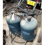 EAST WOOD DUAL TANK WELDING CART W/GAS CABLES/GUN/REGULATOR
