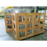 (4) WOODEN CRATES C/W ASSORTED SAFETY FENCING