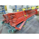 """(3) PALLET RACKING UPRIGHTS C/W (40) 6"""" X 10' LONG CROSSBEAMS"""