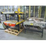 (3) SECTIONS 6' LONG ROLLER TOP CONVEYOR C/W ELECTRIC MOTORS & REDUCERS