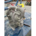 IDEX SANDPIPER PNEUMATIC POWERED TRANSFER PUMP C/W CART, S/N 7012946