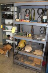 Lot 49 - SHELF W/ CONT: OIL CAN, PROPANE, SCALE (LOCATION 1: 1308 LE GILLILAND DR, TEXARKANA, AR 71854)