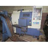 1999 Hwacheon Hi-ECO10 CNC Turning Center, s/n M08234706FE, Fanuc Korea O-M CNC Control, Chip