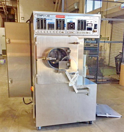 "Lot 6 - Thomas Accela Cota Coating System, Model Compulab 24, with 15"" and 12"" pans"