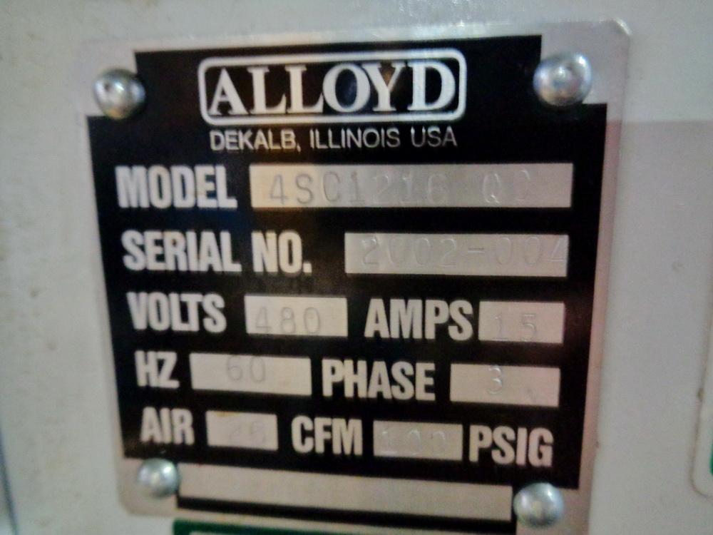 Lot 100 - Alloyd Rotary Blister Packaging Machine. Model 4SC1216 QC