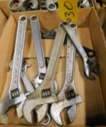 Lot 30 - ADJUSTABLE WRENCHES