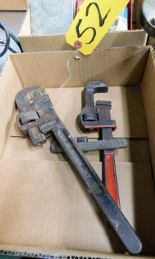 Lot 52 - PIPE WRENCHES