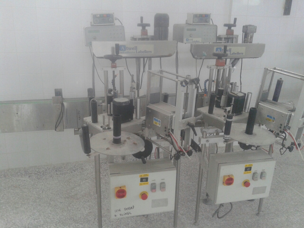 Lot 15 - Atwell In-line Roll-Fed Pressure Sensitive Labeler