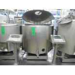 English: Mixing/Cooling Tank for Ice Cream 520L with Agitator, Type WEDHOLMS, Self contained Freon