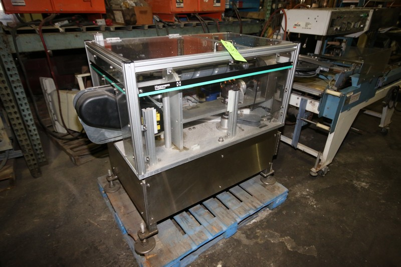 Lot 36 - Hoppmann Bottle Placement Unit, S/N PC0027APLCOI, with Drive, Mounted on S/S Frame (LOCATED IN FT.