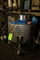 Lot 9 - Permasan 100 Gal. Jacketed S/S Tank, S/N 31918, Mounted on S/S Portable Frame (NOTE: Missing (1)