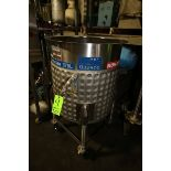 Permasan 100 Gal. Jacketed S/S Tank, S/N 31918, Mounted on S/S Portable Frame (NOTE: Missing (1)