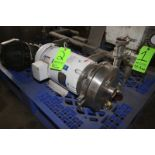 """WCB 15 hp Centrifugal Pump, M/N 2085L, S/N 420417-07, with 2"""" x 2"""" S/S Clamp Type Inlet/Outlet, with"""