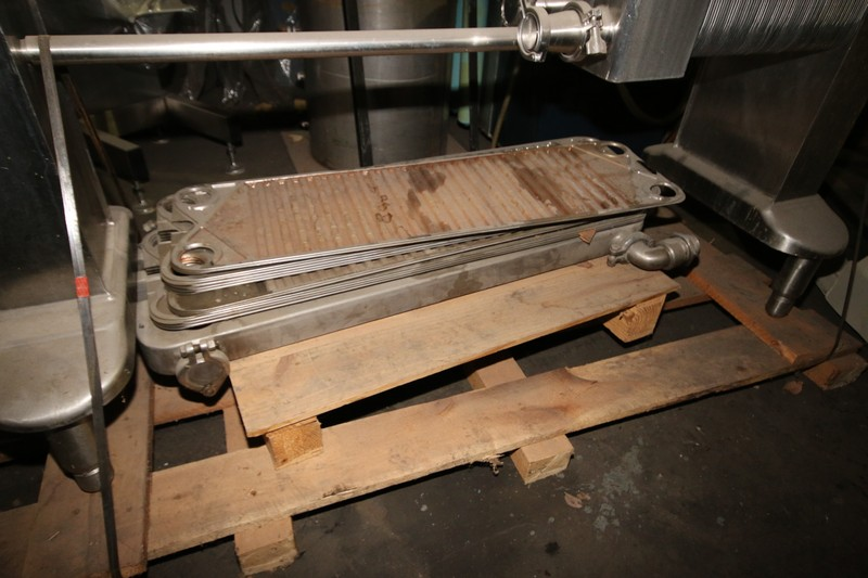 Lot 16 - Chester Jenson S/S Plate Press Heat Exchanger, Type HMC, S/N 4651509, Size 55, with (72) Installed