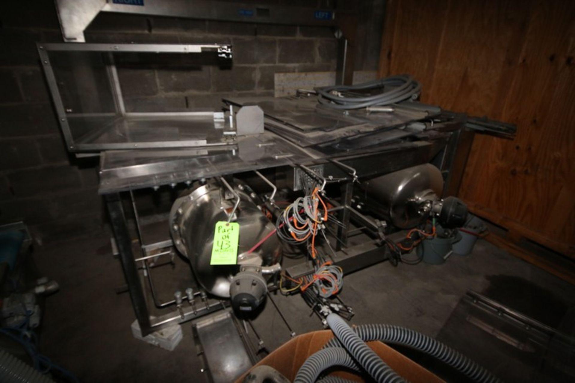 Lot 43 - Alphacos Dual Lane IV Filler, Type 526, S/N 526002, 7000 kg Weight Bag Capacity, S/S Frame (