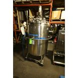 Precision 600 L S/S Jacketed Tank, S/N 7627, 316L S/S, Max. Working Pressure: 60 PSIG @ 350 F,