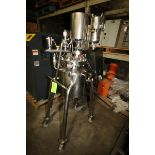 Barcelona S/S Reactor Tank, S/N 2105137, Mounted on S/S Portable Frame, with Anderson Gauges, S/S