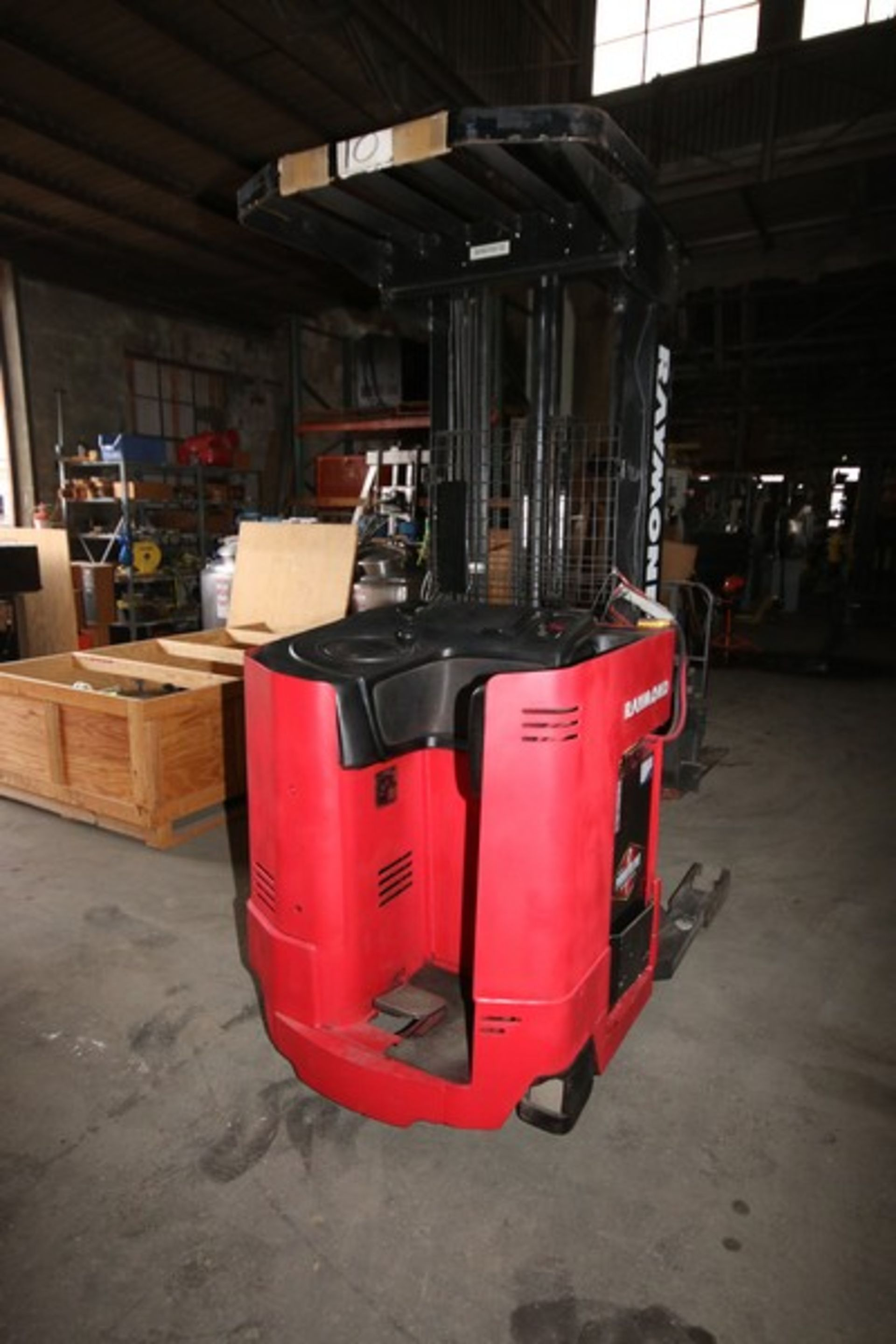 Lot 50 - Raymond 4,500 lb. Stand-Up Electric Forklift, M/N EASI, S/N EZ-A-94-01363, with Side Shift, Tilt,