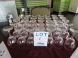Lot 1 - LOT INCLUDING: 35 WINE GLASSES