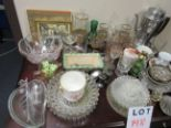Lot 148 - LOT OF ASSORTED ANTIQUE GLASSES,VASES,COLLECTORS DISHWARE, ETC. (60 PIECES) LOCATION : MONTREAL,QC.