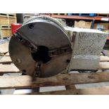 """Yuasa 4th Axis Indexer w/ control box and steady rest, 11"""" 3 jaw chuck w/hard jaws, model UDX-28001"""