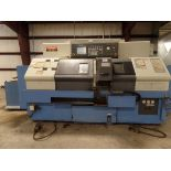 2003 Mazak Dual Turn 20 4 Axis Twin Spindle Twin Turret Opposed CNC Turning Center, rear discharge