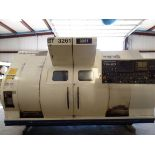 2005 Nakamura TW-20 Twin Spindle Twin Turret Opposed CNC Lathe, Fanuc 18iTB CNC control chip, side