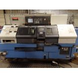 2002 Mazak Dual Turn 20 4 Axis Twin Spindle Twin Turret Opposed CNC Turning Center, rear discharge