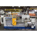 """35"""" x 90"""" Megabore PA3509015 Hollow Spindle Engine Lathe, 9"""" spindle bore, 4 jaw chucks F & R"""