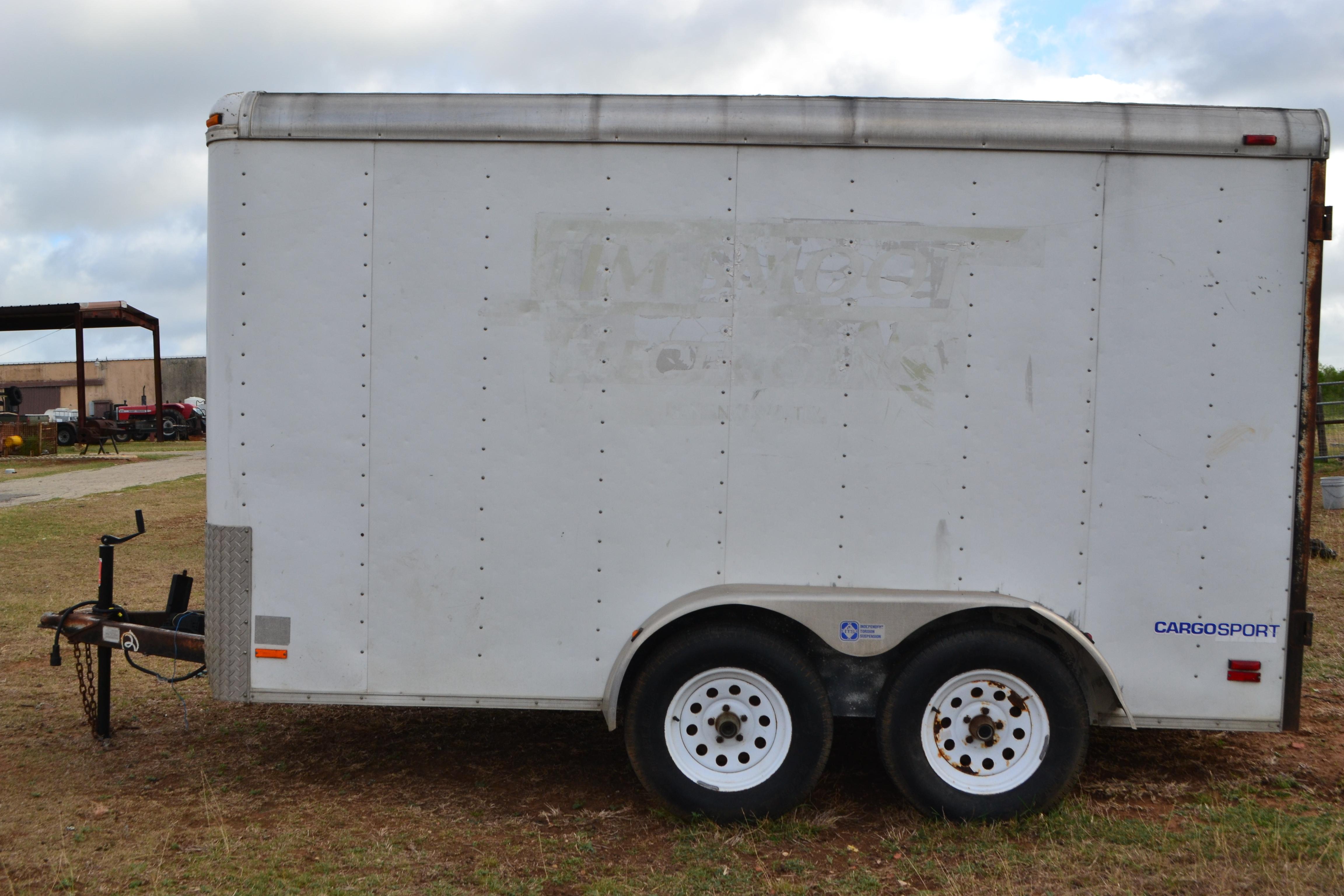 Lot 10 - Enclosed Cargo Trailer