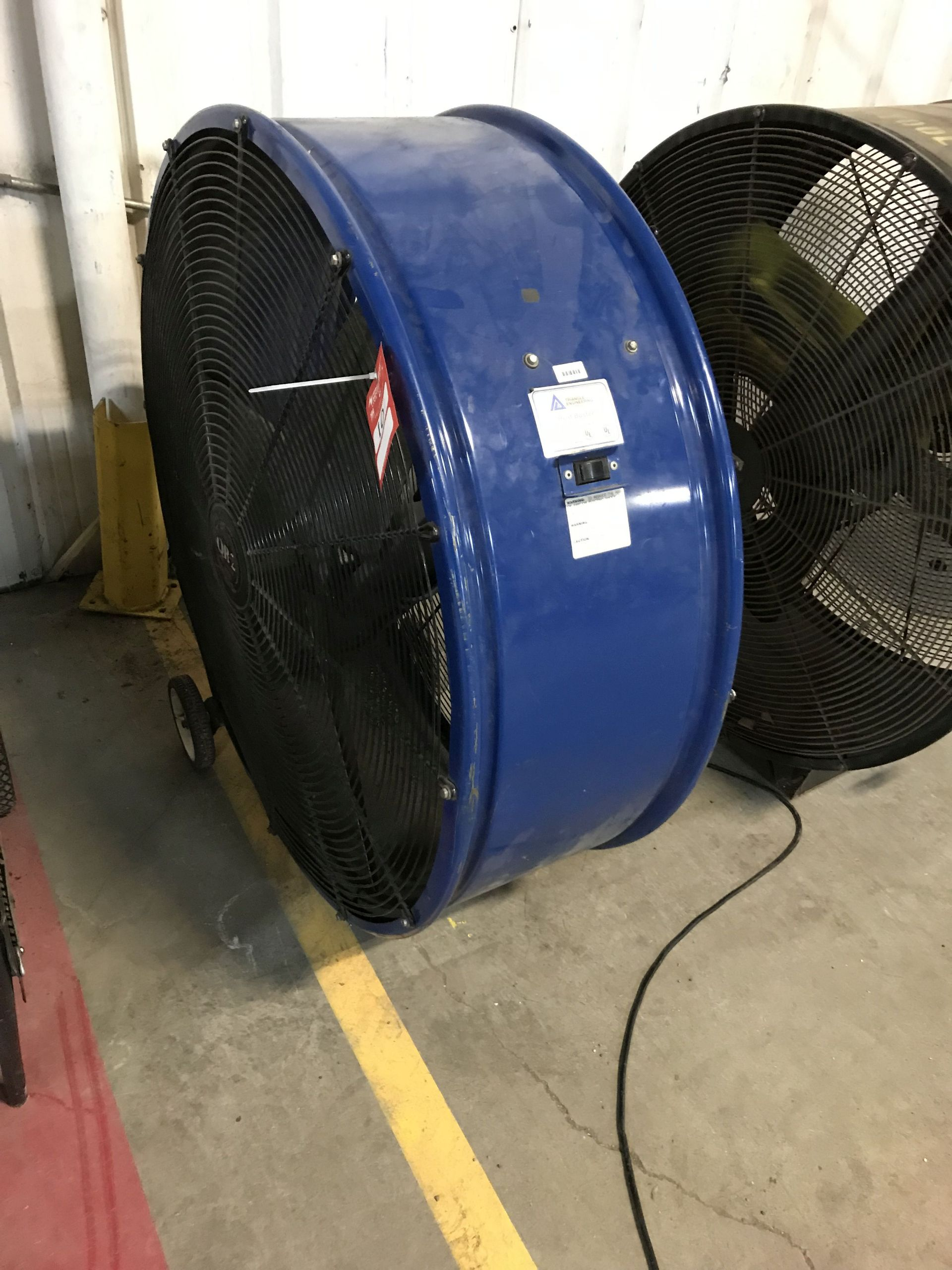 Lot 10 - QB-2 SHOP FLOOR FAN, APPROX 42'' [LOCATION: BUILDING 2]