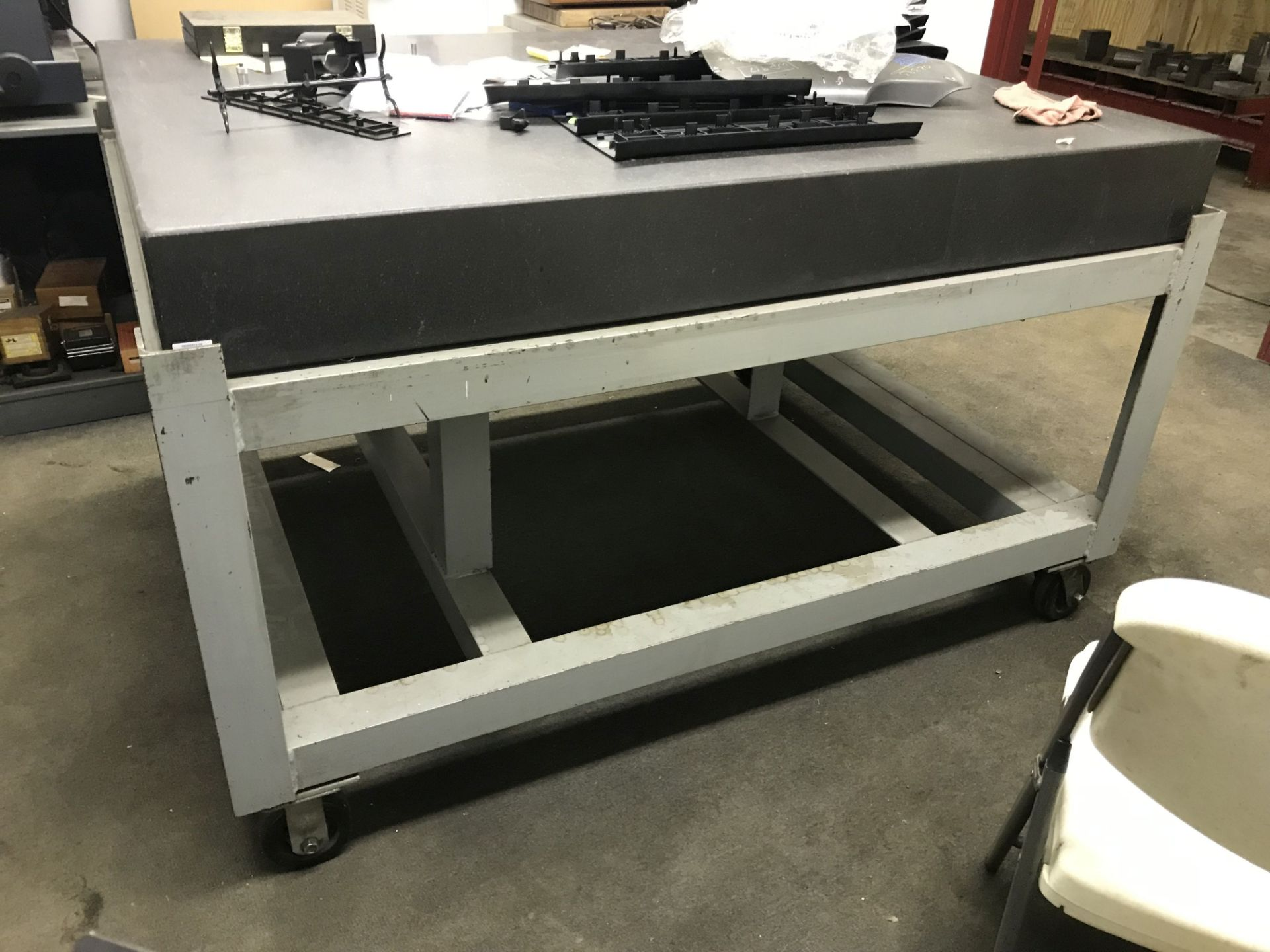 Lot 58 - ROLLING CART WITH SURFACE PLATE, 5' x 4' x 37''T [LOCATION: BUILDING 2]