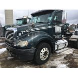 2007 FREIGHTLINER COLUMBIA CL120 T/A TRUCK TRACTOR, DAY CAB, VIN 1FUJA6CV77LX35989, 366,701 MILES,