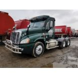 2015 FREIGHTLINER CASCADIA T/A TRUCK TRACTOR, DAY CAB, VIN 3AKJGED53FSGM1606, 318,506 MILES, EATON