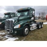 2013 FREIGHTLINER CASCADIA T/A TRUCK TRACTOR, DAY CAB, VIN 3AKJGEDRXDSFF9450, 399,428 MILES, EATON