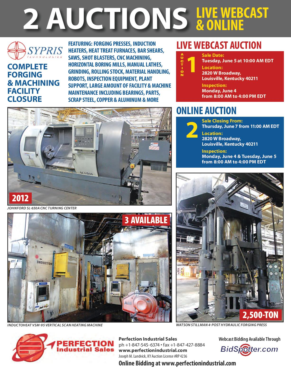 Sypris Technologies - Complete Forging & Machining Facility Closure