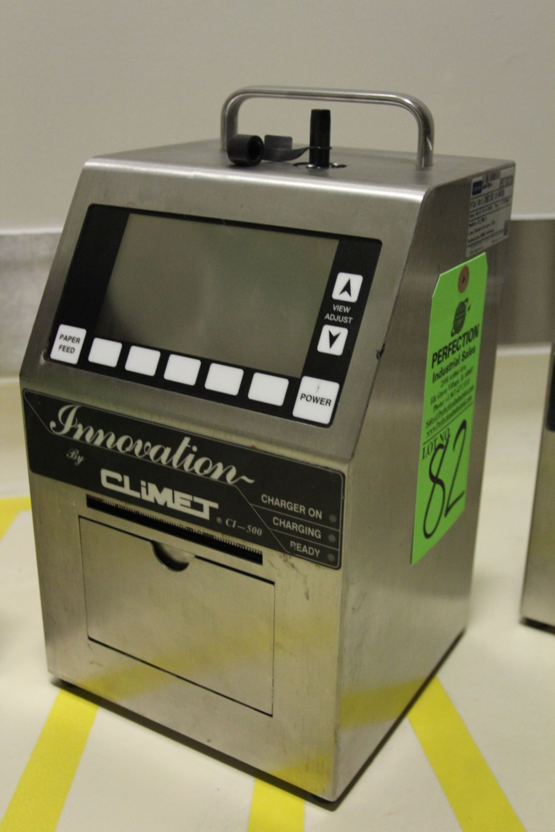 Lot 82 - 2010 Climet Innovation CI 500A Portable Laser Particle Counter, s/n 044784, Particle Sizes from .3mm