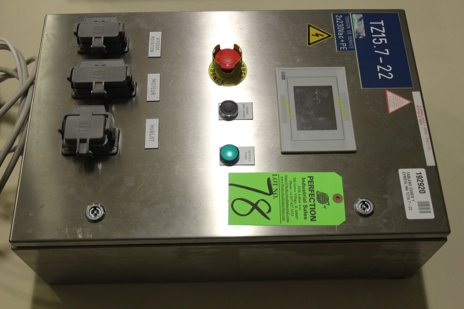 Lot 78 - Siabt UniOp PLC Control for Vessel