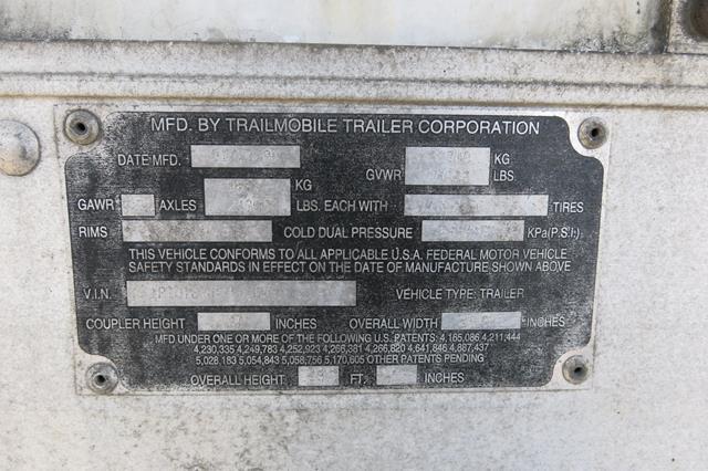 Lot 59 - TRAILMOBILE, 53' REFRIGERATED VAN TRAILER, BARN DOORS, CARRIER, ULTRA FRESH 2, REEFER, 25,761 HOURS,