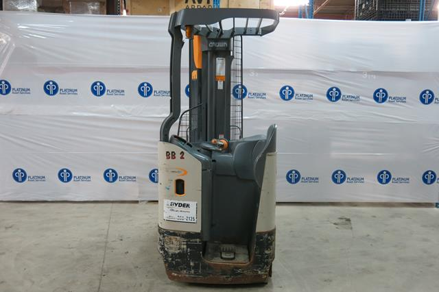 """Lot 10 - CROWN, RMD6025-32, 3,200 LBS., 36V, BATTERY POWERED REACH TRUCK WITH CHARGER, 2,187 HOURS, 210"""""""