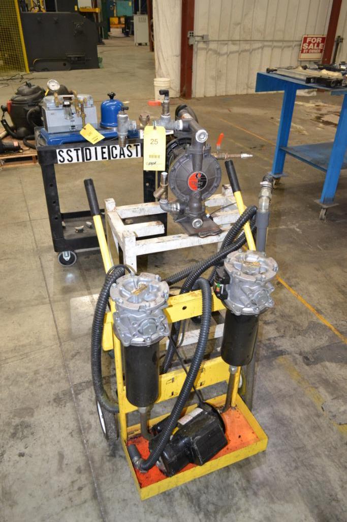 Lot 25 - LOT: Parker Portable Filtration Unit & Husky Diaphragm Pump