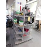 LOT: 4-Side Display Shelf with Assorted Contents